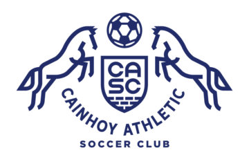 Cainhoy Athletic double horses logo